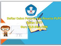 Daftar Calon peserta dan Peserta PLPG guru SLB-SMA-SMK tahun 2017 Jawa Tengah