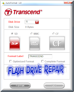 Format Corrupted Transcend Memory cards SD,MMC,CF with Transcend Auto Formatter