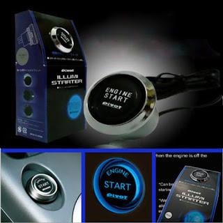 12V Car Engine Start Push Button Switch Ignition Starter Kit Blue LED Universal
