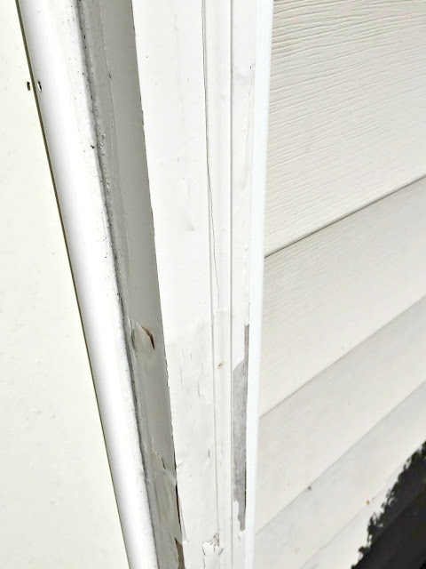 peeling paint on trim