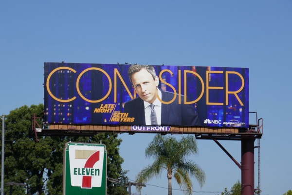 Seth Meyers 2018 Emmy FYC billboard