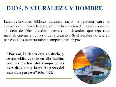 dios, naturaleza y hombre
