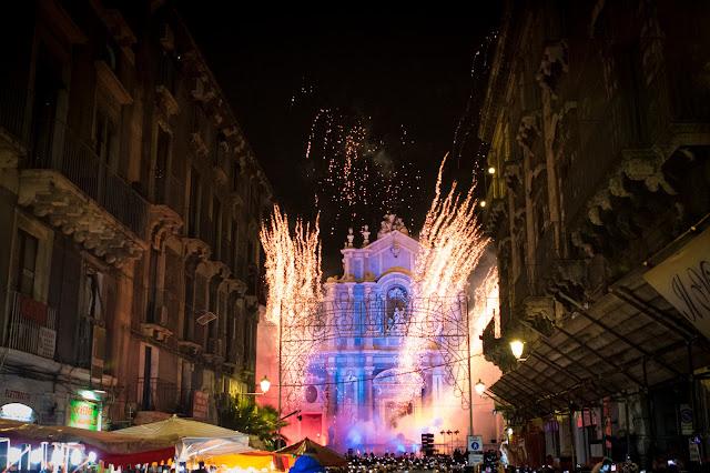 Festa di Sant'Agata a Catania: i fuochi d'artificio