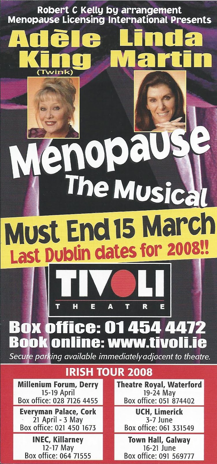 Tivoli Theatre Edinburgh A Touch Of Entertainment Menopause The Musical Tivoli Theatre