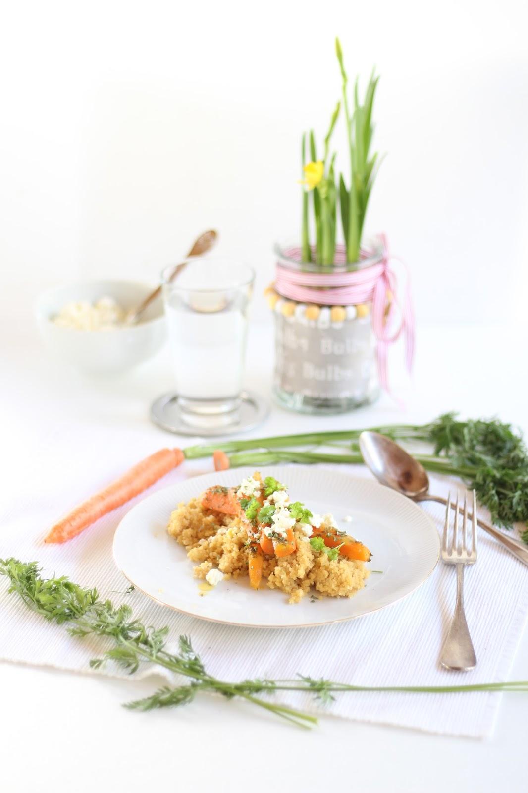 Orangen Couscous mit Möhren - das Rezept findet ihr auf dem Blog