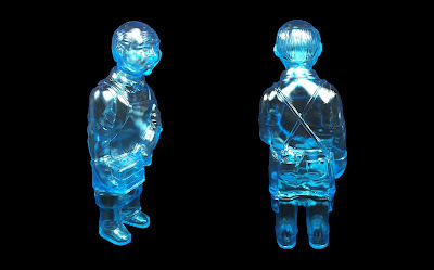 Sofubi-man Clear Blue Edition Vinyl Figure by Mark Nagata & Max Toy Company