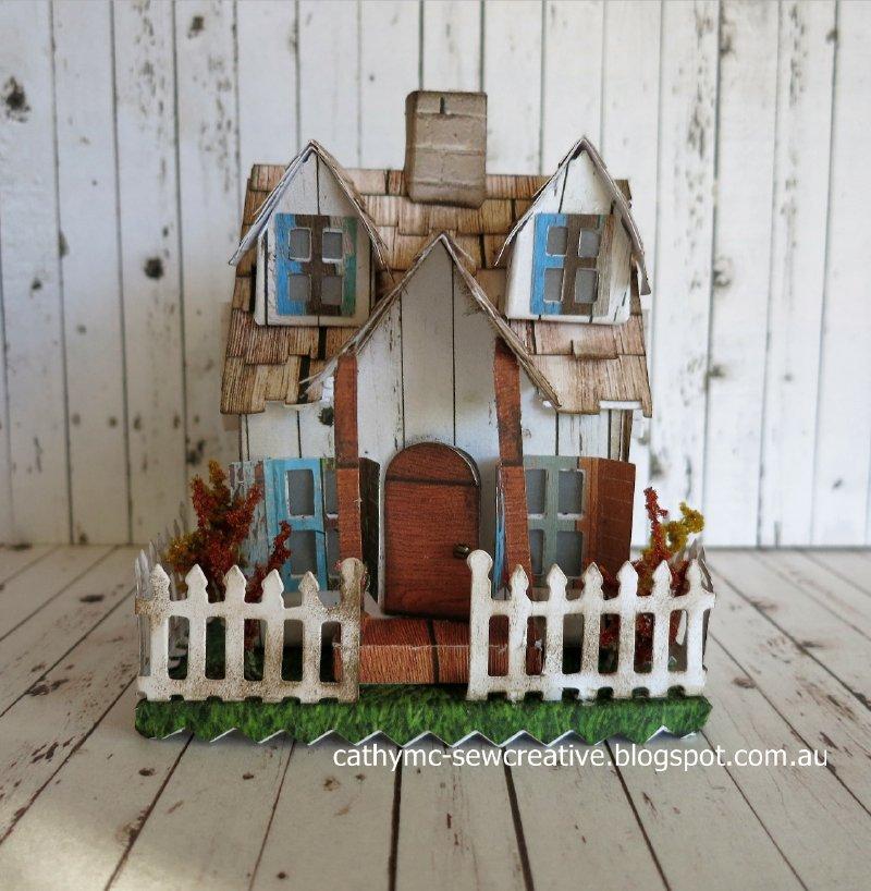 Sew creative tim holtz village bungalow for Village craft container home