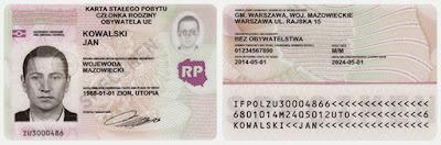 Wzór karty stałego pobytu członka rodziny obywatela UE