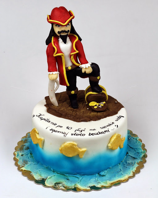 40th Birthday Cake with Famous Pirate aka Captain Morgan