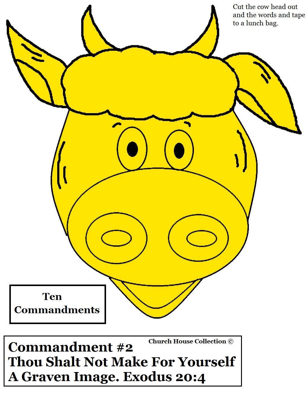 Free coloring page golden calf - Ten Commandments Gold Calf Craft