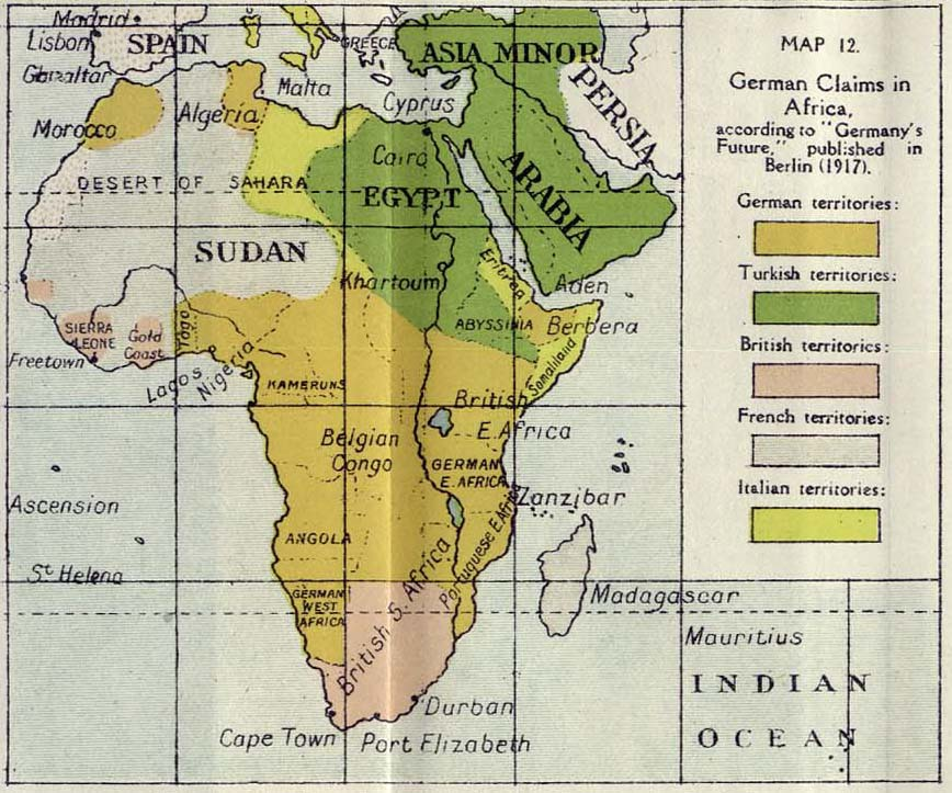 Germany's plans for Africa (1917)