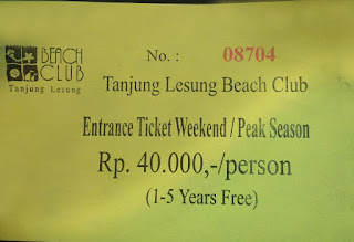 Tiket Masuk Tanjung Lesung Banten Indonesia