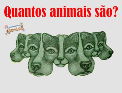 Ilusão de ótica: Quantos animais são?