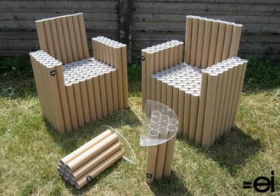 Dal riciclo dei tubi ai mobili di cartone mercatino dei piccoli
