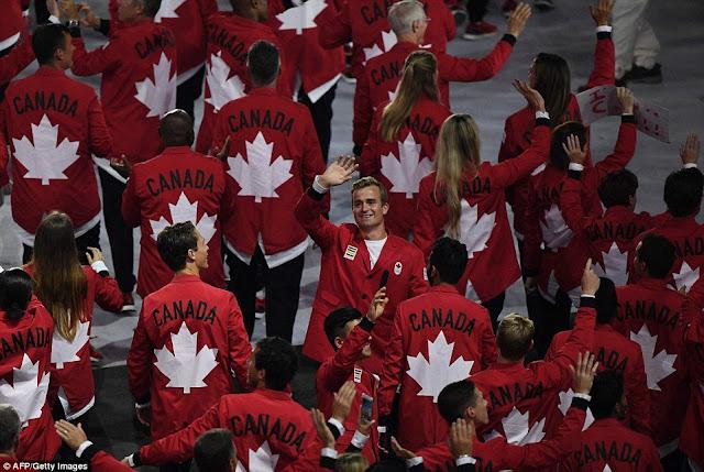 Kostum Pembukaan Kanada di Olimpiade RIO 2016