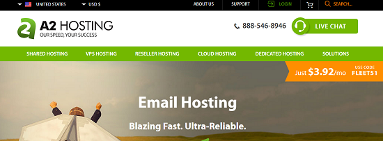 email hosting.A2 host