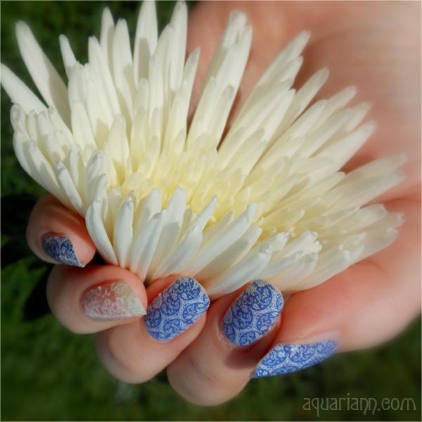 Porcelain Floral Nail Art