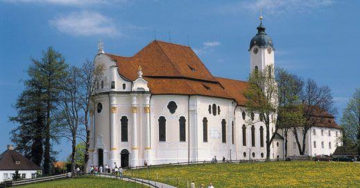 Iglesia de Wieskirche en Alemania