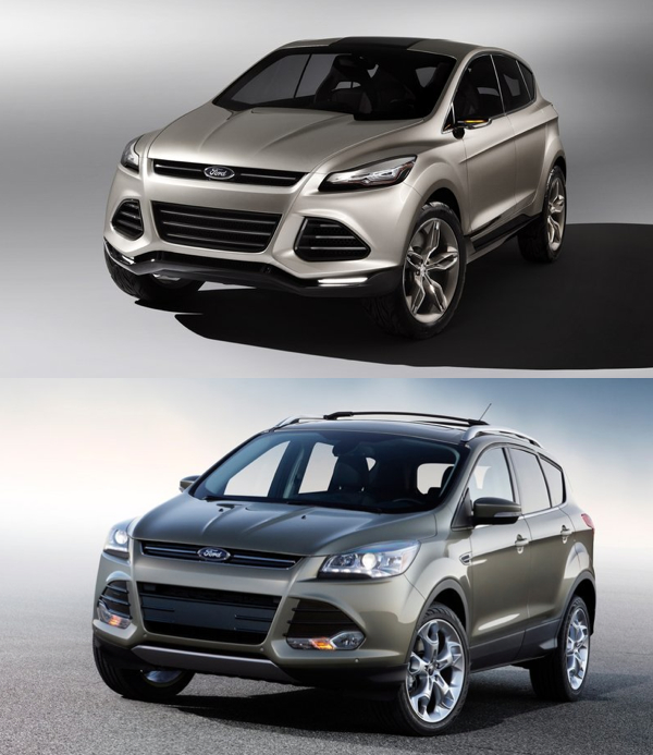 2013 ford escape vs 2012 honda cr v concept vs production. Black Bedroom Furniture Sets. Home Design Ideas