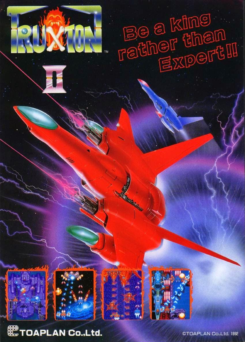 Truxton 2+arcade+game+portable+retro+shooter+art+flyer