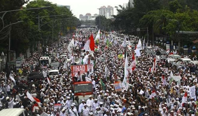 A protest against Ahok on November 4, 2016