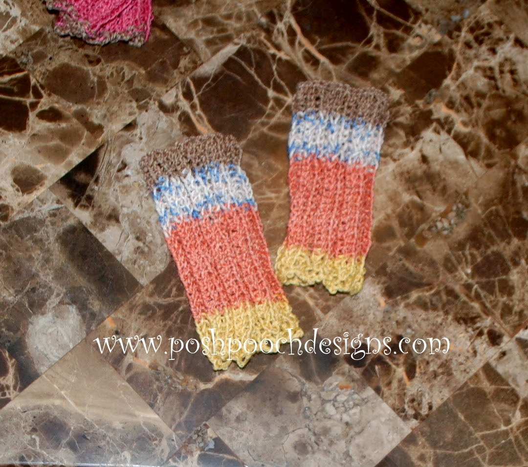 Posh Pooch Designs Dog Clothes: Leg Warmers For Your Dog Free Knitting patter...