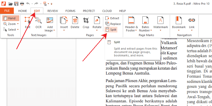 Cara split pdf offline di nitro pro