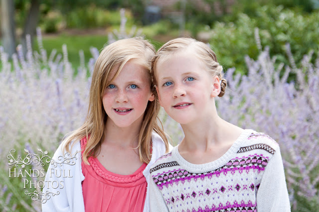 Hands Full Photos Nine Year Old Twin Girls Utah County