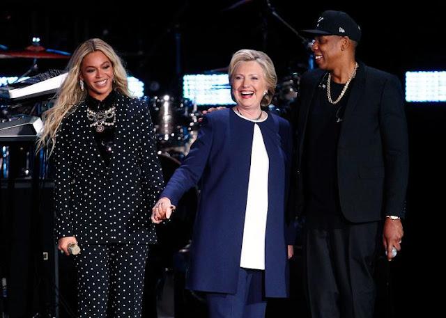 Beyoncé y Jay Z se presentan en concierto a favor de Hillary Clinton