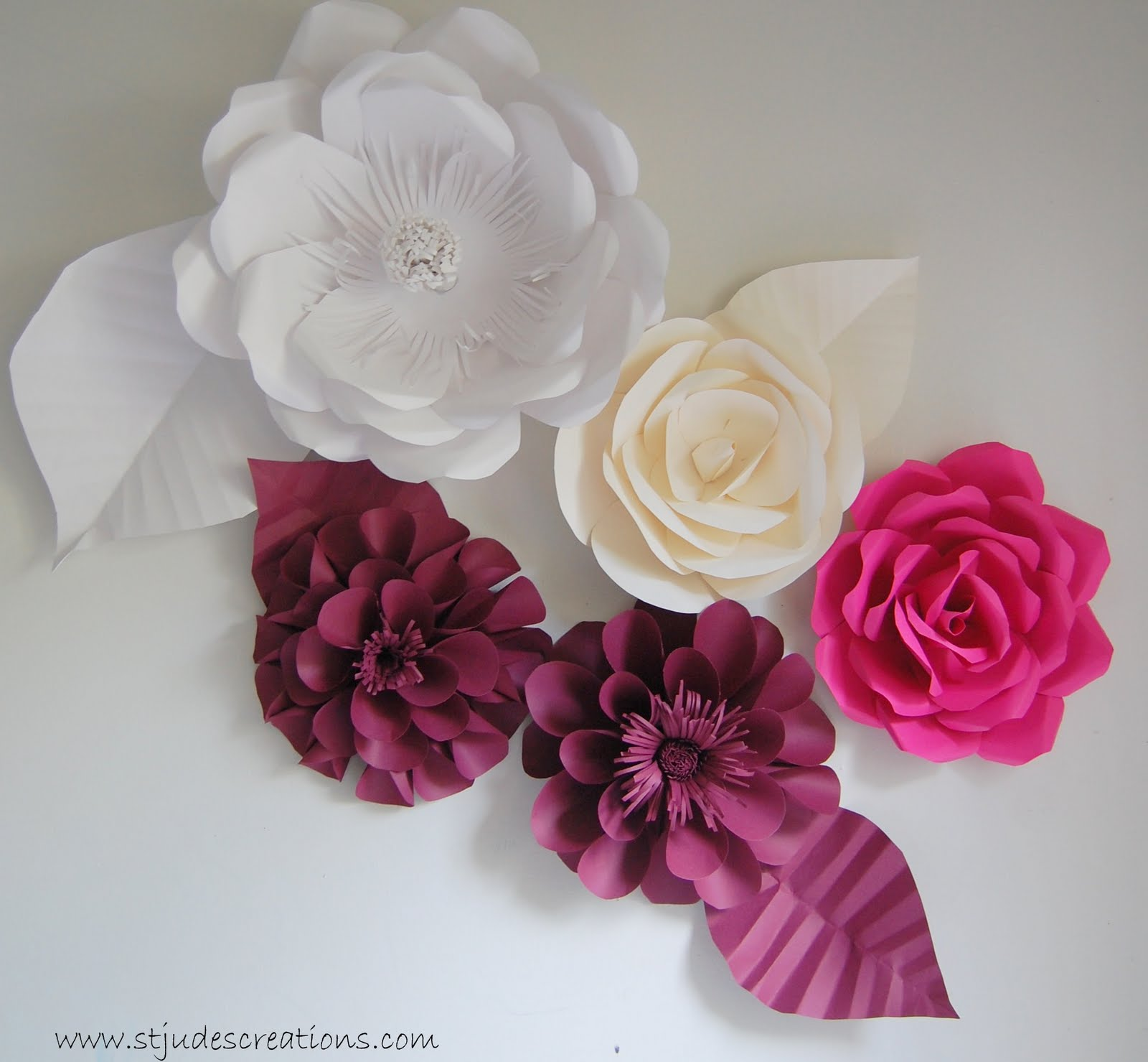Oversized Paper Flowers Handmade Paper Flowers By Maria Noble