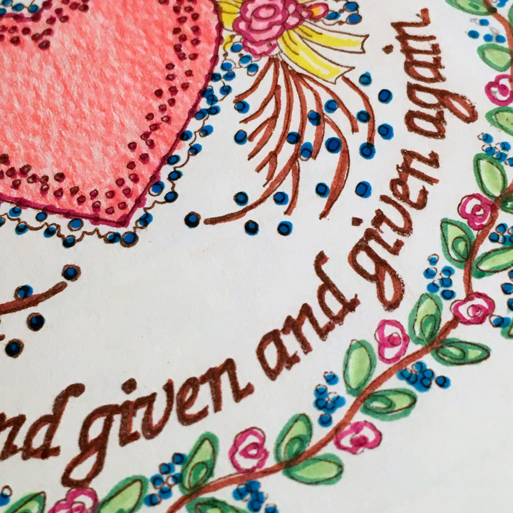 Did you know that I have an email list for anyone interested in illustrated Bible journaling I typically send three to four emails each month