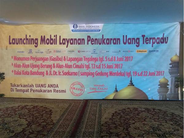 Jadwal dan lokasi Kas Keliling Penukaran Uang BI di Bandung