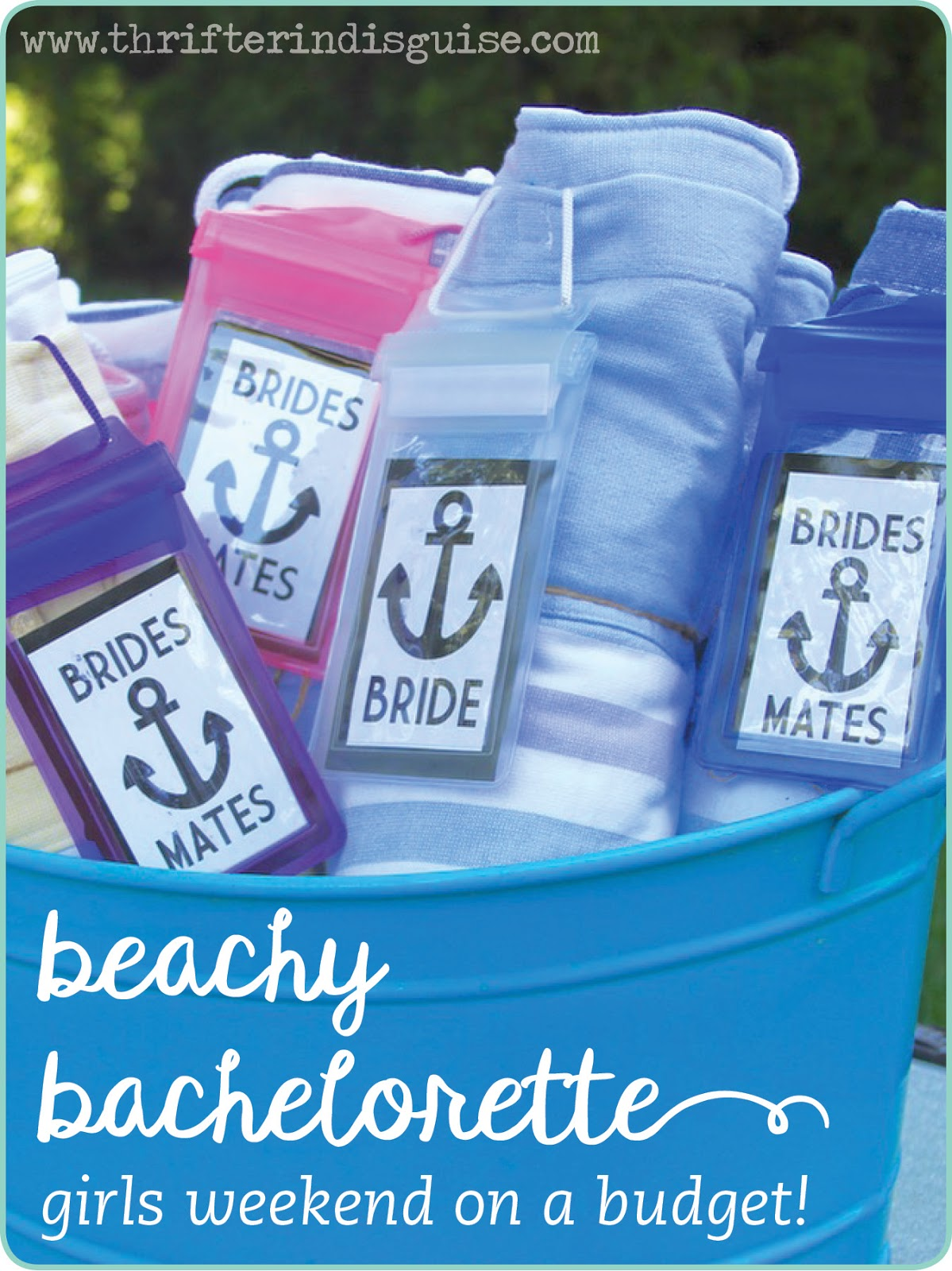 A Thrifter in Disguise: Beach Bachelorette Party DIY Ideas