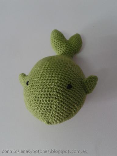 conhiloslanasybotones - Shamu, la ballena amigurumi