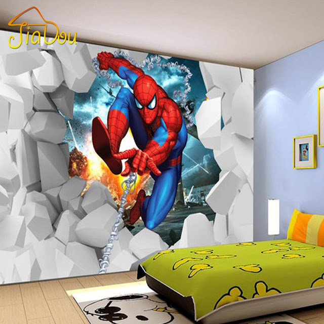 Spiderman Wall Mural Marvel Photo Wallpaper Children