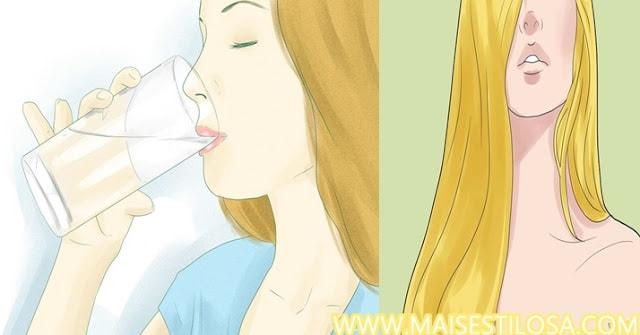 beber muita água faz o cabelo crescer mais rápido