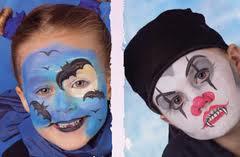 para evitar que los metales pesados y otros dainos en la pintura tradicional de la cara de halloween