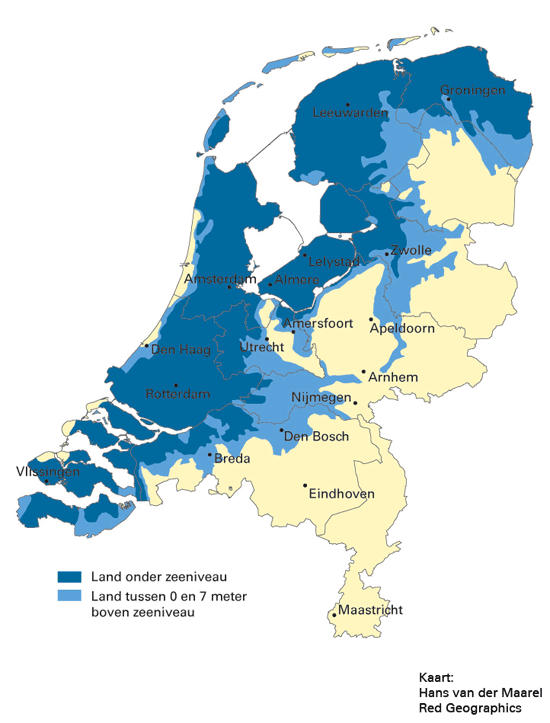 How much of the Netherlands is below sealevel