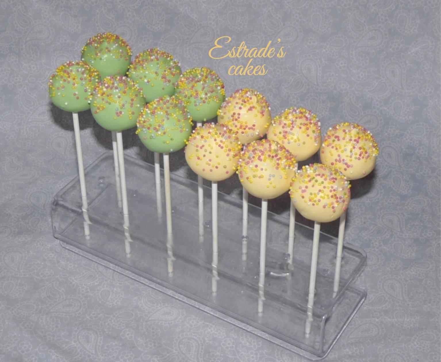 cake pops en verde y amarillo - 1