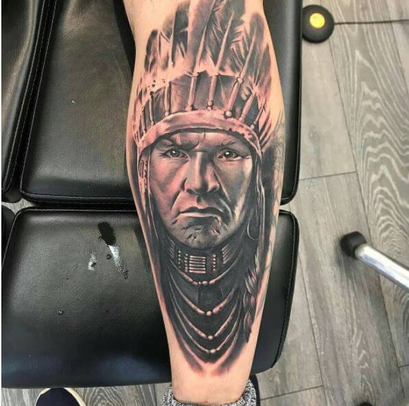 608f61309 50+ Traditional Native American Tattoos With Meaning (2018 ...