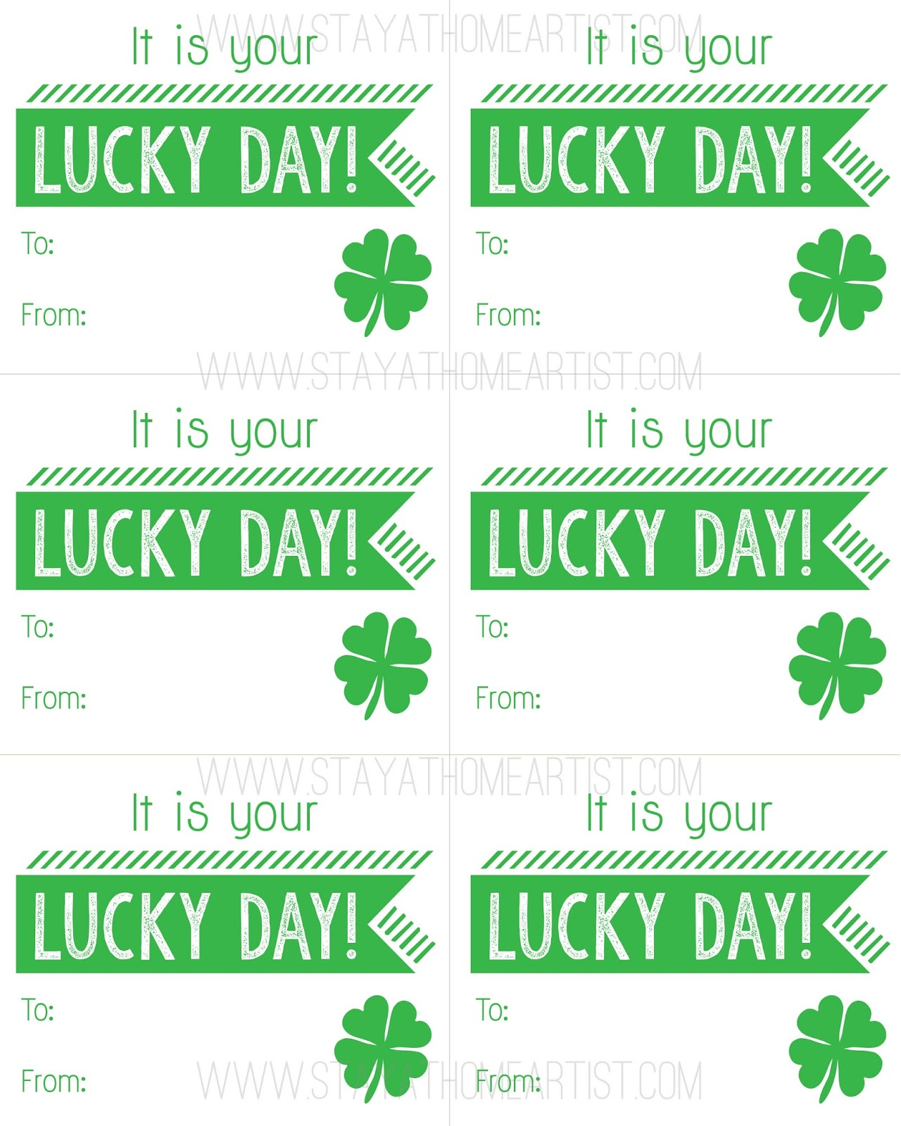 Stayathomeartist Free Printable St Patrick S Day
