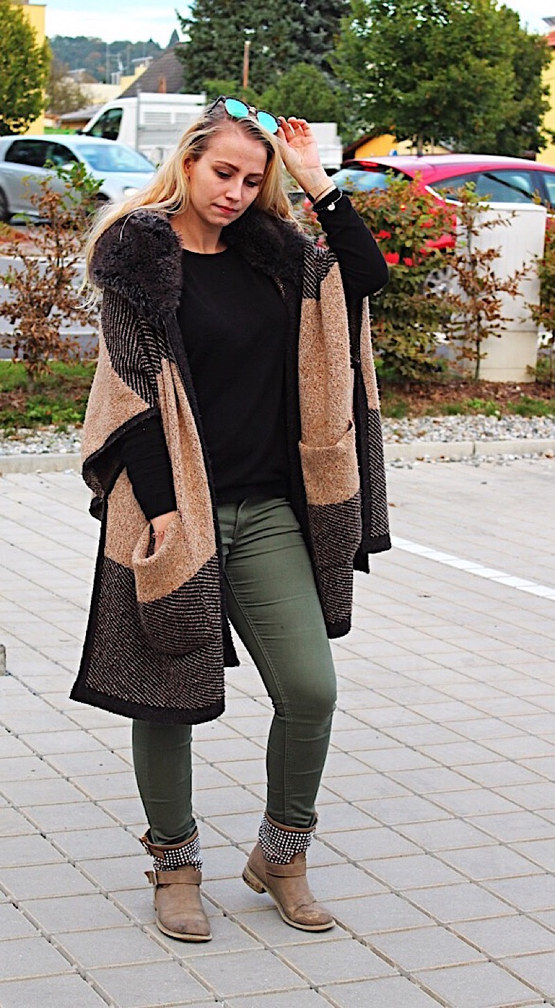 Herbst Outfit mit Poncho