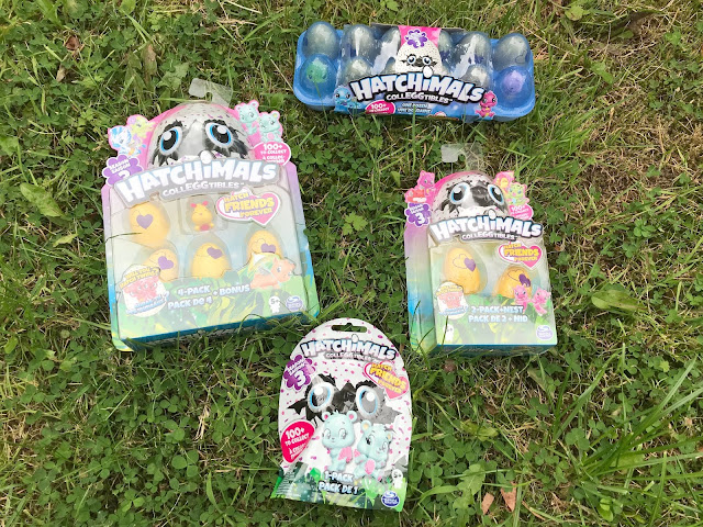 Hatchimals CollEGGtibles series 3 collection on grass