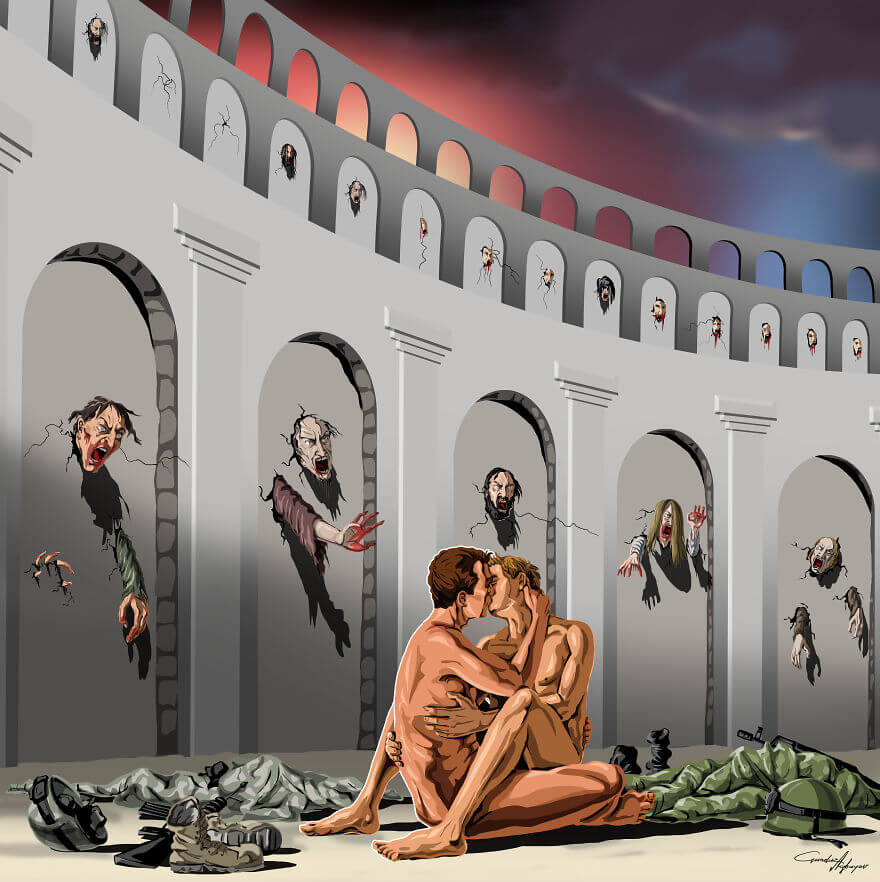 13 Powerful Illustrations Reveal Everything That Is Wrong With The World Today - Hate