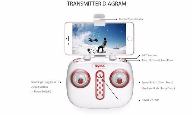 Syma X8SC X8SW Quadcopter Drone Transmitter