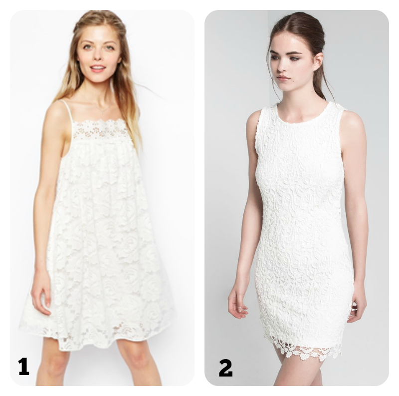 qué me pongo en verano vestido blanco