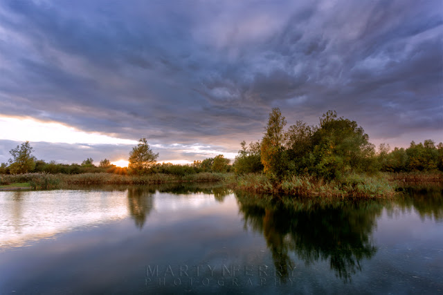 Dramatic clouds over the Nature Reserve at Ouse Fens in Cambridgeshire