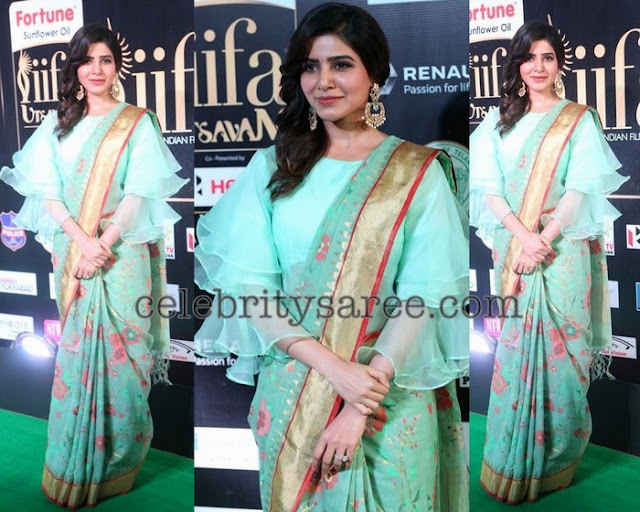 Samantha in Singania Saree