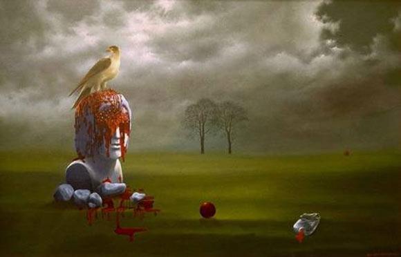 Pájaro y cabeza