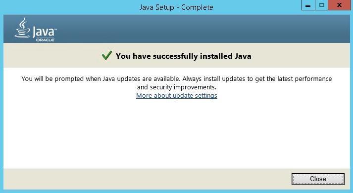 Java Runtime Environment 8.0 Update 251